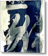 Inked Painted And Torn Metal Print by Carol Leigh