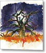 Inktober 19 Burning Tree Metal Print