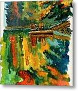 Inktober 21 Color Field Metal Print