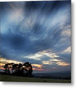 Inky Sunset Metal Print