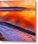 Inlet Sunset Metal Print