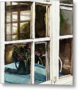 Inn Window Metal Print