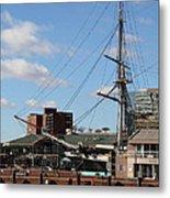Inner Harbor At Baltimore Md - 12128 Metal Print