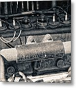 Inner Life Of An Old Car Metal Print