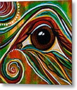 Inner Strength Spirit Eye Metal Print