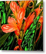 Inpressionistic Garden Metal Print