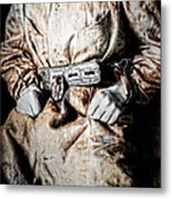 Insane Person In Restraints Metal Print