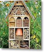 Insect Hotel Metal Print by Olivier Le Queinec