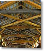 Inside A Covered Bridge 3 Metal Print
