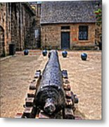 Inside A French Fort Metal Print