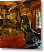Inside A Grist Mill Metal Print
