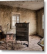 Inside Abandoned House Photos - Old Room - Life Long Gone Metal Print