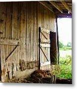 Inside An Indiana Barn Metal Print by Julie Dant