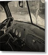 Inside An Old Junker Car Metal Print