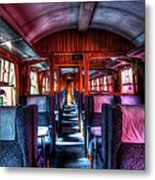 Inside An Old Train Metal Print