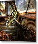 Inside An Old Truck Metal Print