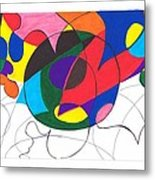 Inside And Outside The Circle Metal Print