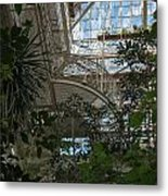 Inside Beautiful Old Greenhouse Metal Print