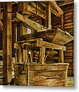 Inside Mingus Grist Mill Metal Print
