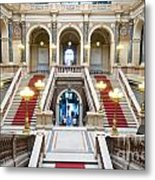 Inside Of National Museum In Prague Metal Print