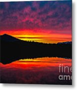 Inside Passage Sunrise Metal Print