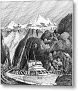 Cruising The Inside Passage Metal Print