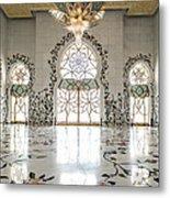 Inside Sheikh Zayed Grand Mosque - Abu Dhabi Metal Print