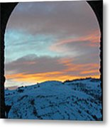 Inside The Arch Metal Print