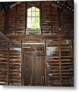 Inside The Barn Metal Print