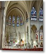 Inside The Cathedral Basilica Of The Immaculate Conception 1 Metal Print
