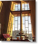 Inside The Chapel Of The Holy Cross Metal Print