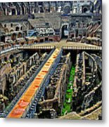 Inside The Colosseum I I Metal Print
