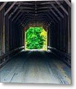Inside The Covered Bridge Metal Print by Jason Brow