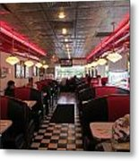 Inside The Diner Metal Print by Randall Weidner