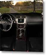 Inside The Lexus Is250 Metal Print