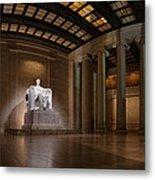 Inside The Lincoln Memorial Metal Print