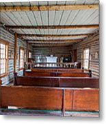 Inside The Little Church - World Mining Museum Metal Print