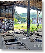 Inside The Old Train Roundhouse At Bayshore Near San Francisco And The Cow Palace Iv Metal Print