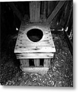 Inside The Outhouse Metal Print