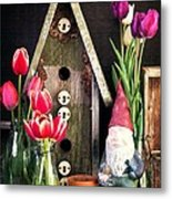 Inside The Potting Shed Metal Print by Edward Fielding