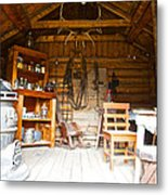Inside The Real Sam Mcgee's Cabin In Macbride Museum In Whitehorse-yk Metal Print