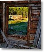 Inside The Shed Metal Print