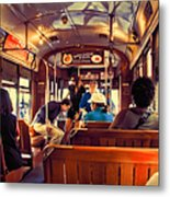 Inside The St. Charles Ave Streetcar New Orleans Metal Print