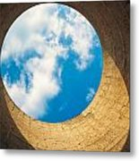 Inside View Of Cooling Tower Metal Print