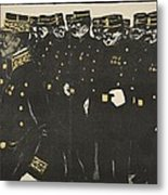 Inspection Of A Line Of Police Metal Print