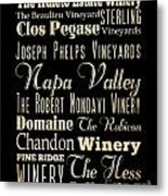 Inspirational Art- Napa Valley Wineries Metal Print