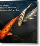 Inspirational - Gathering Fish Of Every Kind - Matthew 13-47 Metal Print by Mike Savad