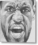 Intensity Lebron James Metal Print