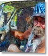 Interesting Guy Metal Print by Cary Shapiro