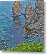 Interesting Rock Shapes In Trinity Bay Near Skerwink Trail-nl Metal Print
